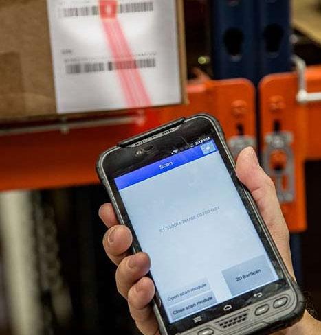 Barcode-Scanner - Logistik