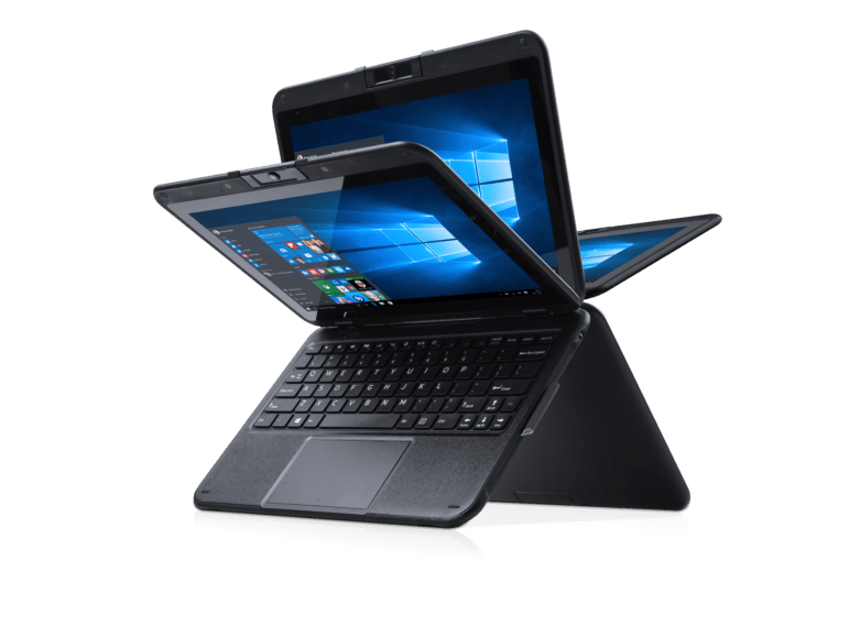 Pokini E11 Convertible rugged Notebook, aufgeklappt | acturion.com