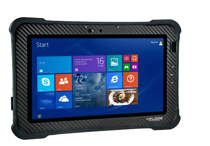 Rugged-Tablet-PC-Xplore-B10-frontal-seitlich