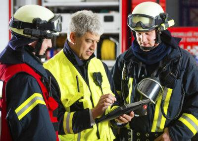 Rugged Tablets beim Feuerwehr Einsatz