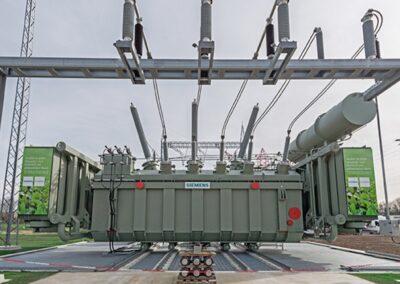 Siemens-Werk-Weiz- esteröl-isolierten-Transformator